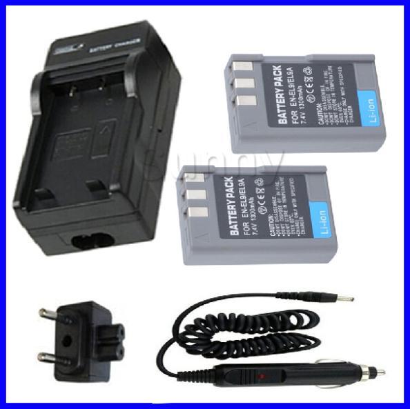Battery (2 Pack) and Charger for Nikon EN EL9, EN-EL9, EN-EL9a, EN-EL9E and Nikon D3000,D40, D40x, D5000, D60 Digital SLR Camera(China (Mainland))