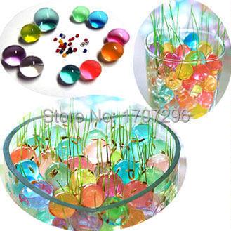 100 pcs/ Bag Pearl Shaped Crystal Soil Water Beads Mud Grow Magic Jelly Balls Home Decor Aqua Soil Wholesales