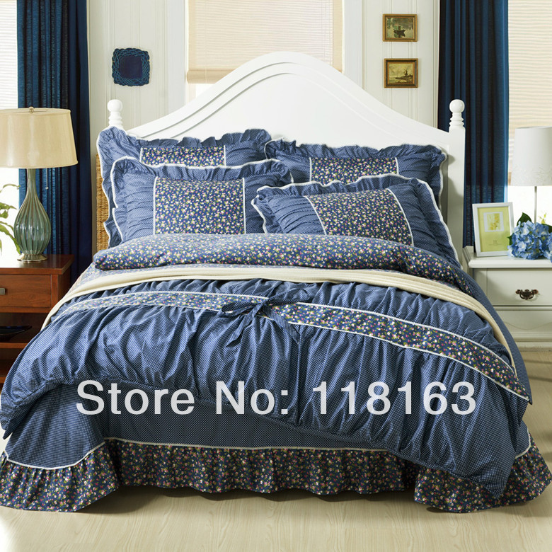 new 2014 korean style bedding set cotton queen king size