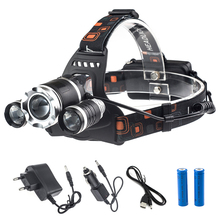 Buy USB Charge linterna 6000 lumens headlight cree xml t6 led headlamp 18650 rechargeable head lamp flashlight head lantern 7028-1 for $13.43 in AliExpress store