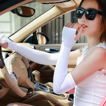 Summer Pure Color Arm Cooling Sleeves Long Gloves UV Sun Protection Cover Golf Driving Unisex Arm Warmers(China (Mainland))