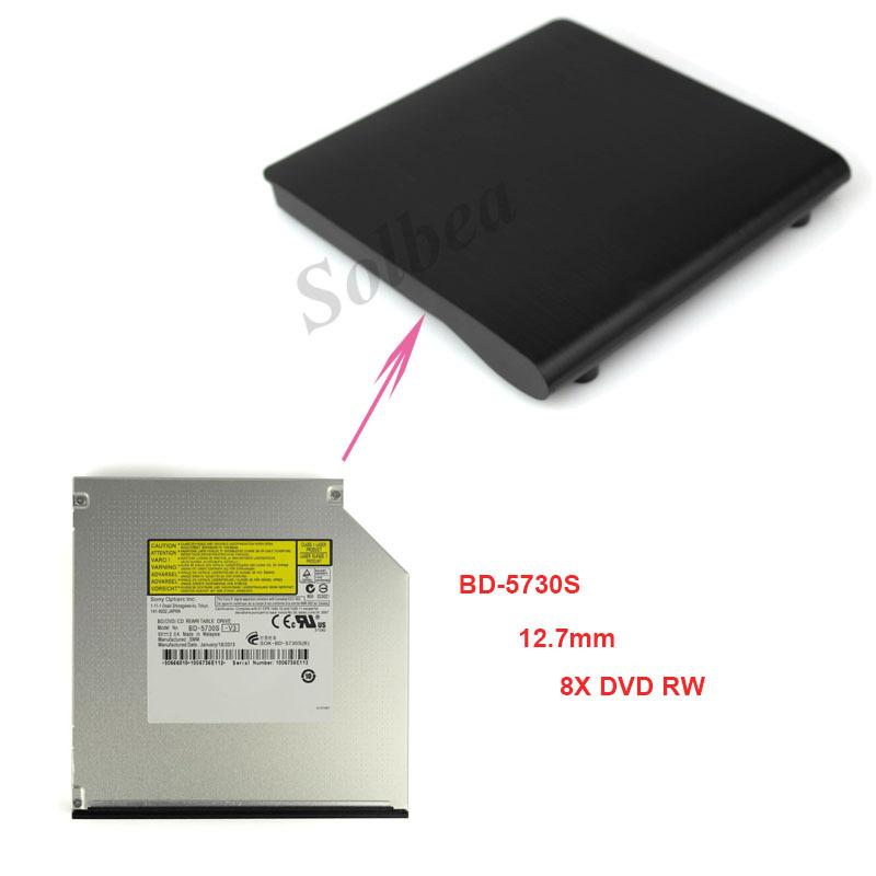 1pc USB 2.0 SATA 12.7mm Pop-up Tray Loading External Case Optical Enclosure+BD-5730S Blu-Ray Burner 8X DVD RW Optical Drives(China (Mainland))
