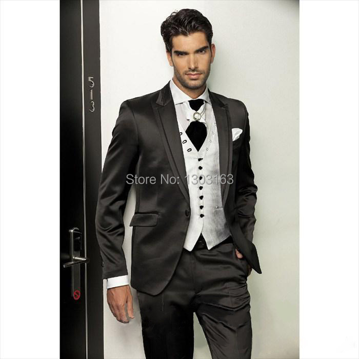 Groom Tuxedos wedding suits for men Best man Suit Wedding Groomsman Men Suits Bridegroom (Jacket+Pants+Tie+Vest)Free Shipping