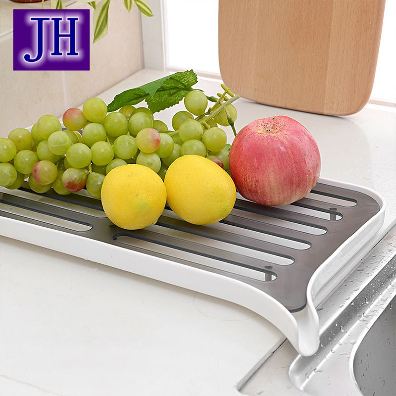 Kitchen Draining Rack High Quality Multi-functional Shelf Plastic Dish Storage Fashion Vegetable and fruit drain shelves storage(China (Mainland))
