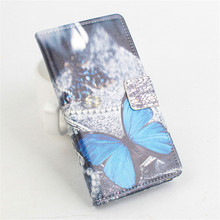 Eiffel Tower Butterfly Cartoon Painting Wallet For jiayu F2 Case ,PU Stand Wallet Card Slot Leather Cover For jiayu F2 Phone Bag