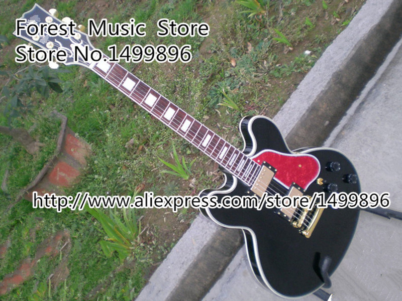 Free Shipping B.B. King Lucille Electric Guitar In Black Binding Body China Guitar Left Handed Custom Available(China (Mainland))