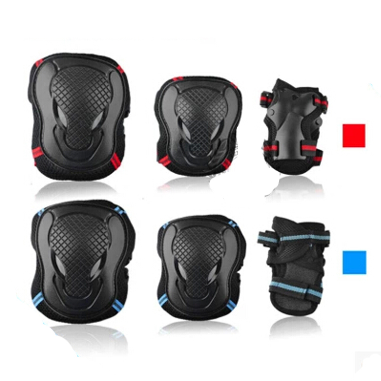Free Shipping Blue Red Outdoor Tactical Military Airsoft Sport Paintball Knee & Elbow Protective Pads Wholesale Hot Sport Safety(China (Mainland))