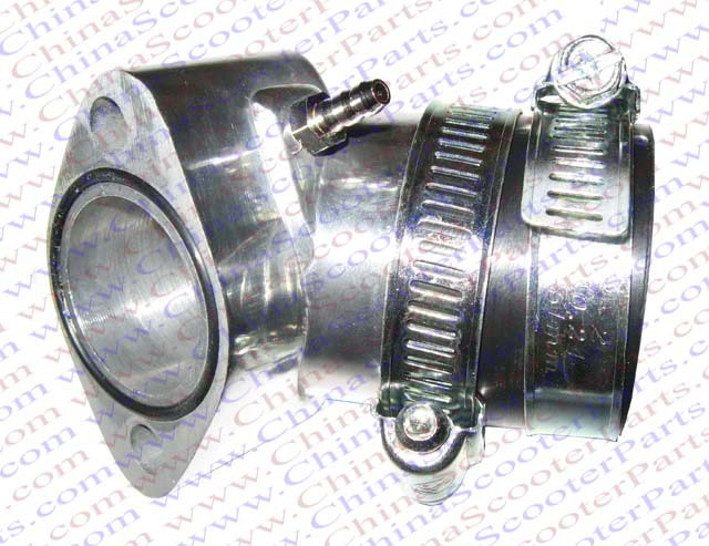 Performance 28MM Alu Intake Manifold font b GY6 b font 125CC 150CC Moped Scooter ATV Quad