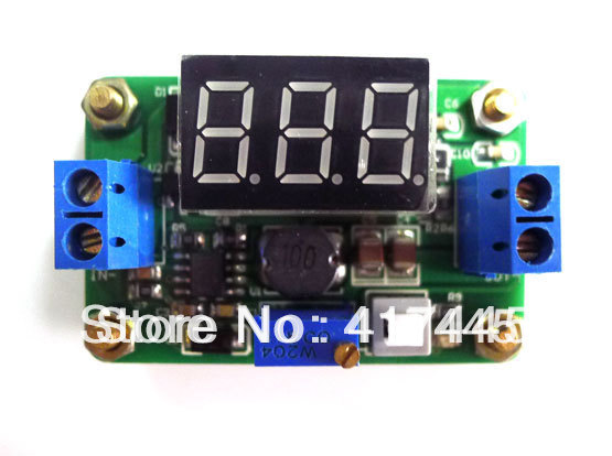 5pcs/lot DC Power Supply Buck Step-down Module with LED display Current Adjustable 4.5V-24V to 0.93-20V(China (Mainland))