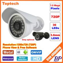 HD 720P CCTV camera 1.0MP Megapixels IR surveillance Outdoor Waterproof security cam network CCTV IP camera P2P ONVIF Phone view(China (Mainland))