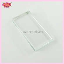 Transparent Rectangular crystal chip Eyelash glue Individual False Eyelash Extension Crystal Adhesive Glue Pallet Makeup Tool