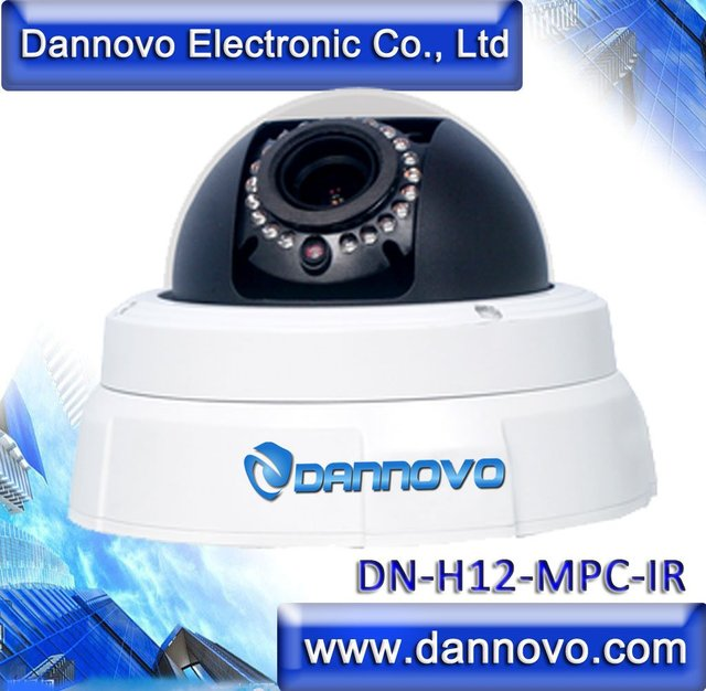 DANNOVO 720P HD 2.0 Megapixel Onvif IP Camera Wired IR Vandalproof Dome Network IP Camera Outdoor,Support iPhone,Audio