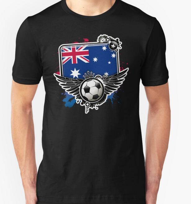 Soccer Fan Australia T-shirts Men Swag Funny Cotton Short Sleeve O-neck Tshirts 2016 New Fashion Summer Style Brand T shirts(China (Mainland))