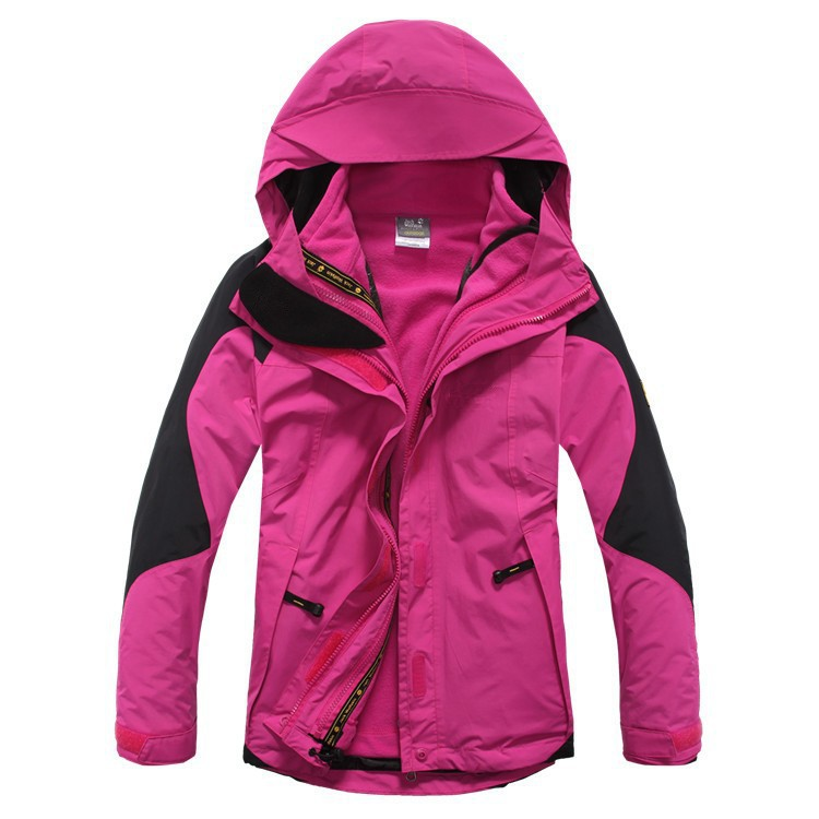 The Best Ski Jackets / 2015 winter brand Waterproof 3-layers outdoor sport skiing suit snowboard clothing for women(China (Mainland))