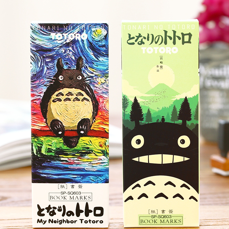 32 pcs/pack My neighbor Totoro book marks Cartoon paper bookmark Stationery office accessories School supplies marcador 6392(China (Mainland))