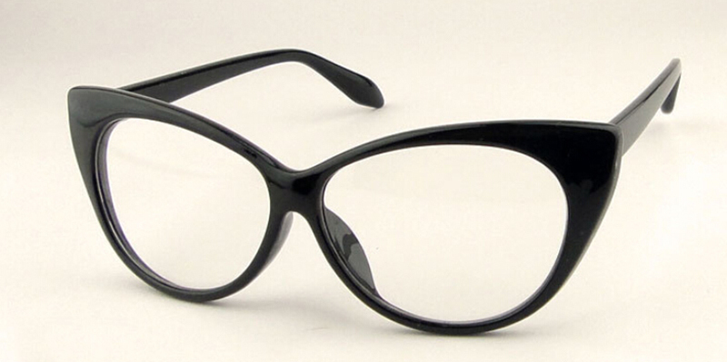 Sexy Vintage Fashion Cat Eye Shape Women Lady Girls Plastic Plain Eye Glasses