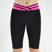 Buy 7 Colors Women Fitness Pants Elastic Stripe V Waist Sporting Pants Sexy Knee Length Leggings Short Skinny Workout Pants Trousers for $10.31 in AliExpress store