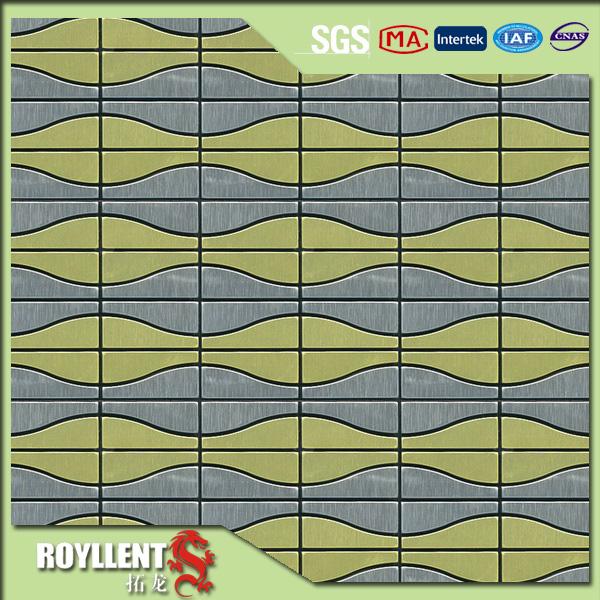 royllent acp mosaic diy cheap wave form self adhesive. Black Bedroom Furniture Sets. Home Design Ideas