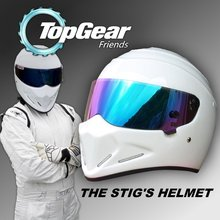 For Topgear The STIG Helmet / TG Fans's Collectable / Like as SIMPSON Pig / White Motorcycle Helmet with Colorful Visor Top Gear(China (Mainland))