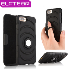 ELFTEAR PC+Silicone Outdoor Belt Clip Holster Case For iphone 7 7 plus sport ring with stand phone cover(China (Mainland))