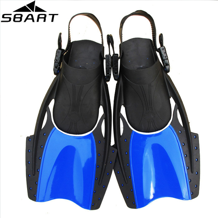 SBART High Quality Adjustable Silicone Swimming Flippers For Diving Fins Short Scuba Dive Equipment Water Sports Adult Fins J02(China (Mainland))