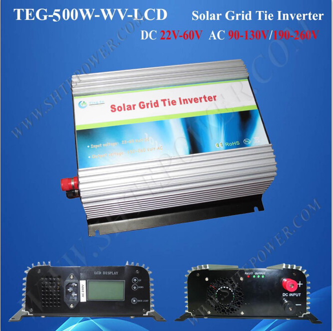 Over Temperature Protection solar grid tie 500w 22-60v inverter power(China (Mainland))