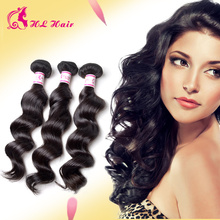 Peruvian Virgin Hair 100% Human Hair Natural Color Black Peruvian Loose Wave Cheap peruvian Hair style 3 Pcs Lot bundles deals(China (Mainland))