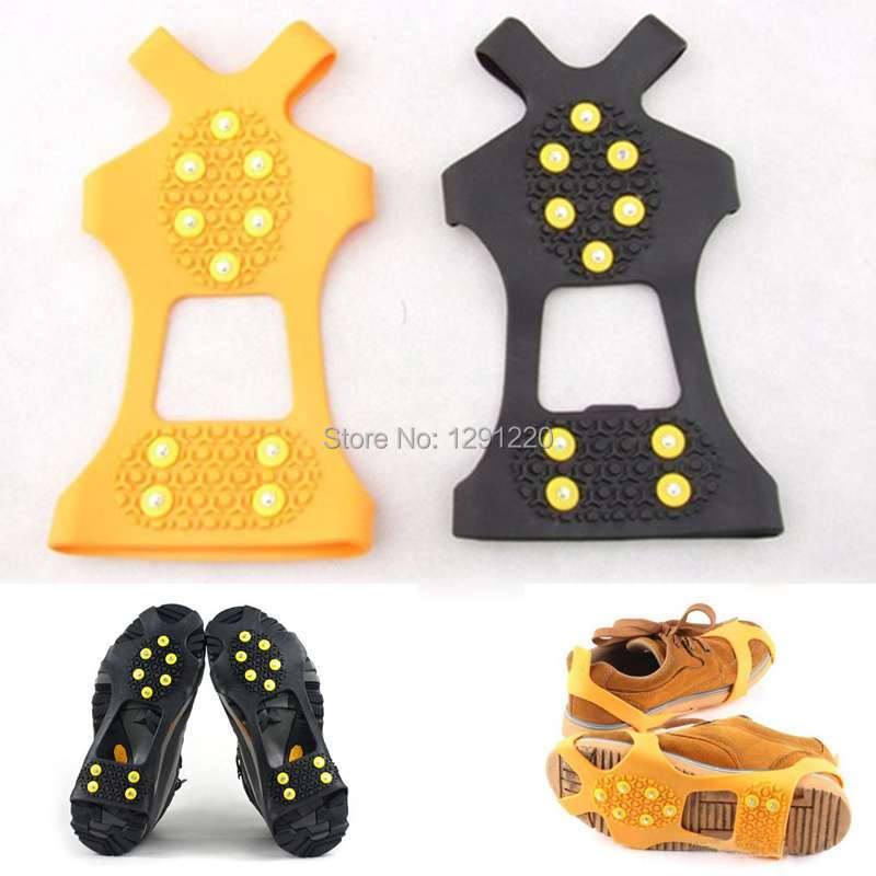 1Pair Free Shipping New Anti Slip Overshoes Shoe Boots Studded Snow Grips Crampons Cleats Hot ipPN(China (Mainland))
