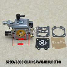 MP16 52CC 5200 58CC 5800 Chinese Chainsaw Carburetor with Chainsaw Repair Kits