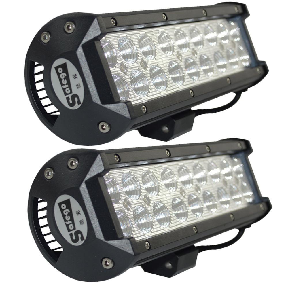 2pcs 9inch off road LED Bar 54W Cree LED Work light bar offroad 4X4 for trucks car ATV Boat 4WD spot flood 12V 24V VS 36W 72W<br><br>Aliexpress
