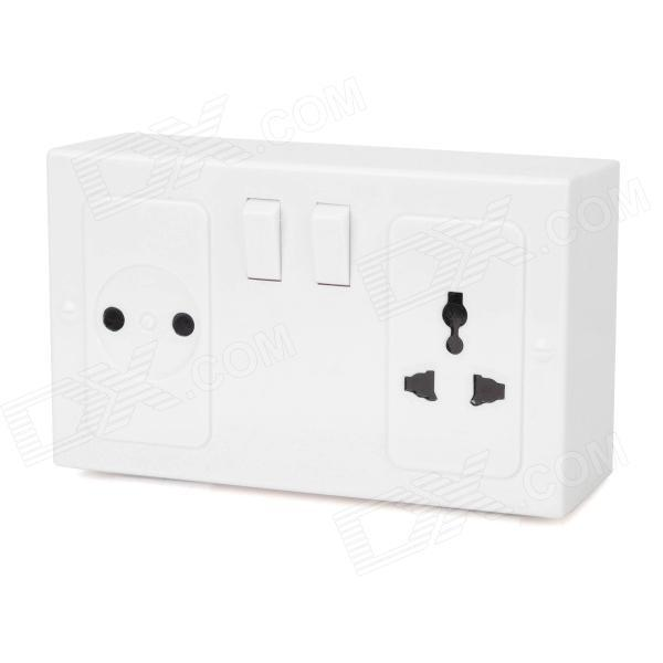 New UK Plug Socket Style Plastic Safe - White 1pcs(China (Mainland))