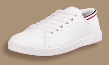 Men S Pure White Sneakers Han Edition Round Head Men S