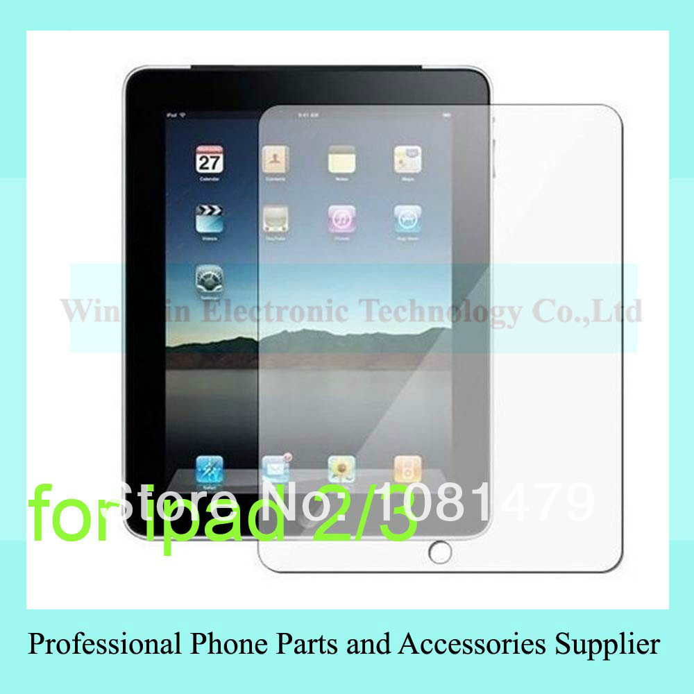 For The new ipad 3 ipad2 clear screen protector, transparent Screen Protector Guard Film for ipad3 with retail package free ship(China (Mainland))