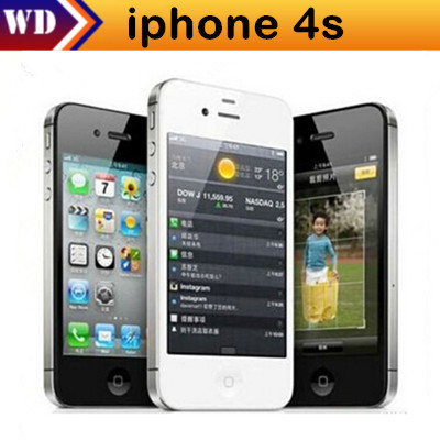 iPhone4s Unlocked Original Apple iPhone 4S IOS 8 GPS WIFI 3.5 Screen 16GB/32GB Storage Dual Core Cell Phone(China (Mainland))