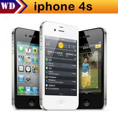 iPhone4s Unlocked Original Apple iPhone 4S IOS 8 GPS WIFI 3.5 Screen 16GB/32GB Storage Dual Core Cell Phone(China (Mainland))