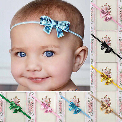 Sweet Baby Girl Sequins Bowknot Toddler Hair Accessory Headbands Hair band(China (Mainland))