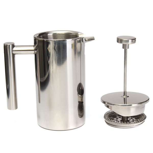 High End French Press Coffee Maker : High quality 350ml Doublewall Stainless Steel Coffee Plunger French Press Tea Maker-in Tea ...