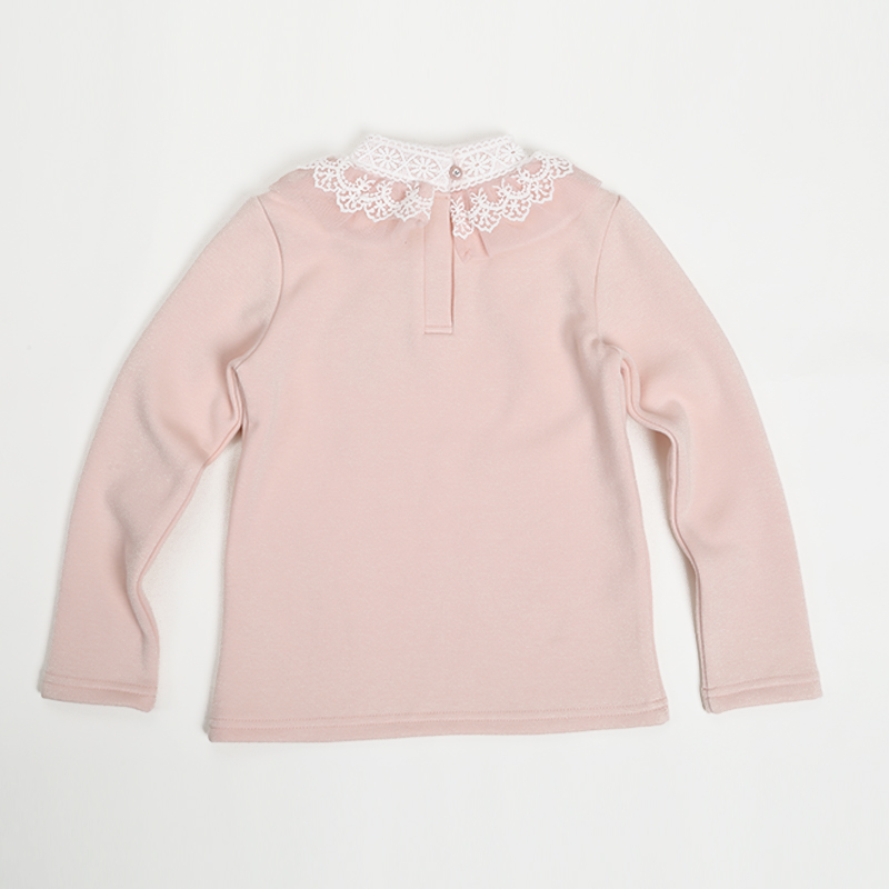 2016 Velour Bow Knot Baby Girl Blouses Kid Outwear O-neck Long Sleeve Girl Shirt