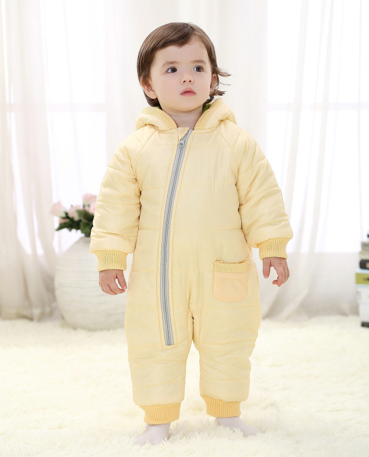 Babzapleume Marka Kış Bebek Romper 0-24 M Yenidoğan Boys Sıcak Snowsuit Kapşonlu Çocuk Kız Tulum Yürümeye Başlayan Giysi Eşofman BC1351