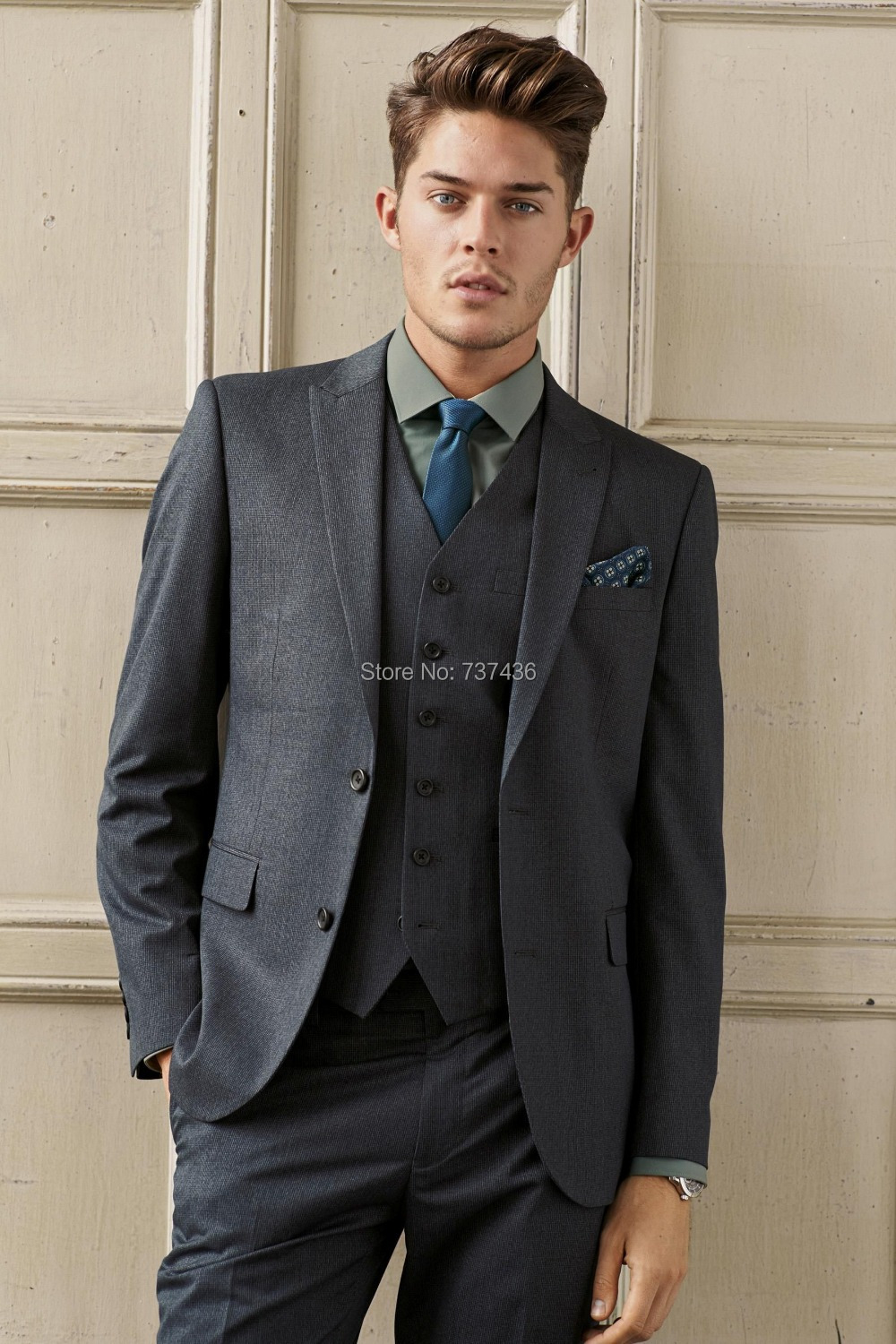 New Arrival Custom Made Men's Slim Business/Wedding Suits 2015