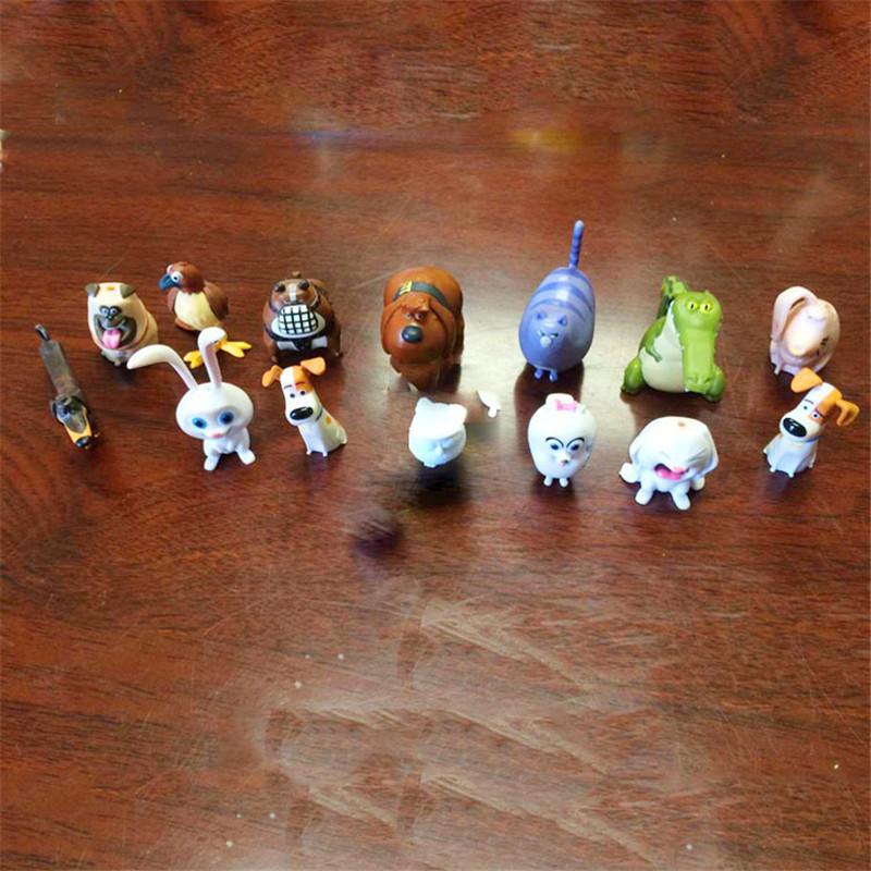 14pcs/lot Kawaii Cartoon The Secret Life of Pets Dog PVC Toys Soft Stuffed Animal Dolls Children Toy Soft Toys For Kids Gif(China (Mainland))