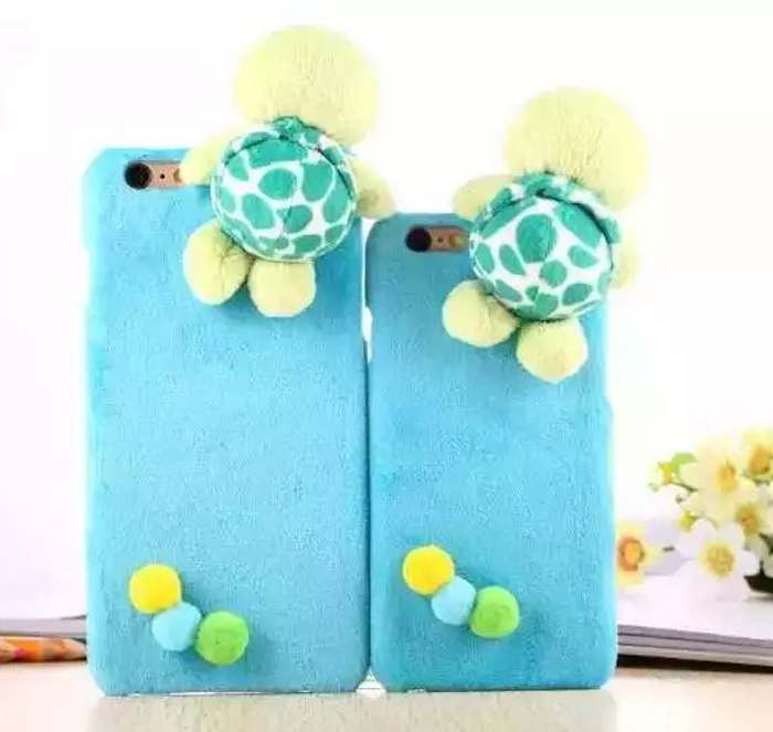 Warm Stuffed Plush Turtle Eggs Cute Mobile For iPhone 6 6S Plus 4.7inch 5.5 inch Protective Case Cover Free Shipping 20pcs/lot(China (Mainland))