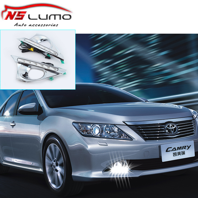6 led high power led drl daytime running light drl for Toyota Camry hybrid 2012-2013 auto car styling parking drl fog light(China (Mainland))