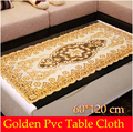 Free Shipping 60 120cm VISAD golden PVC Printed flower Tea table cloth Table cloth Dining table