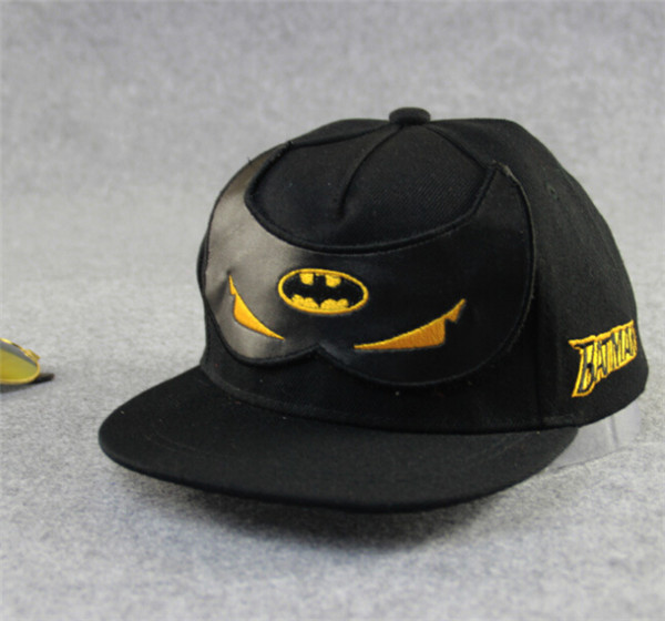 New 2015 Baby Boys Girls Snapback Hats Caps Baseball Cap Kids Children Batman pattern Hats Beanies 3-8 Years(Hong Kong)