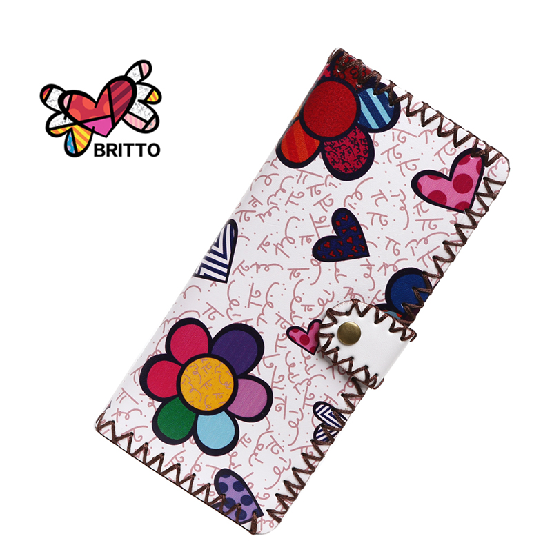 Purchase BRITTO Wallets Fashion Trends Multi-card Position Two Fold Wallets lady Long Button Clutch Purse Card Holder(China (Mainland))