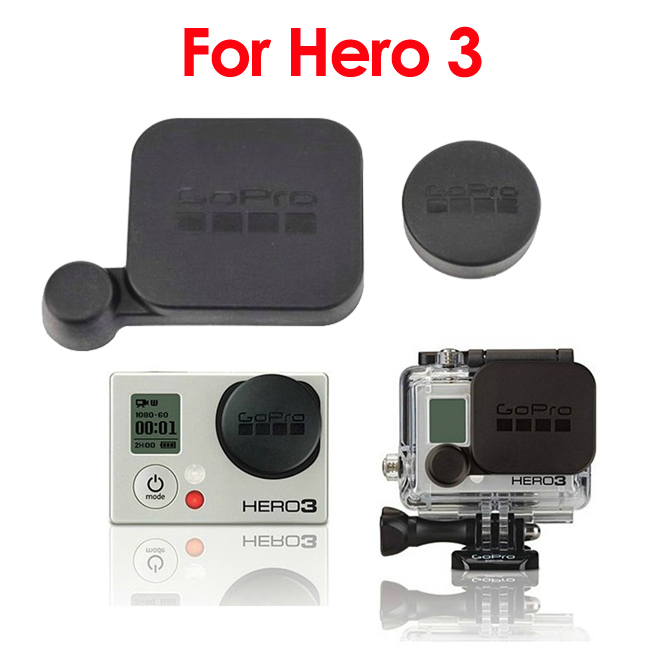 gopro logo Protective Covers Caps for Go Pro Hero3 1pcs Camera lens cover+1pcs Housing lens cover with tracking number(China (Mainland))