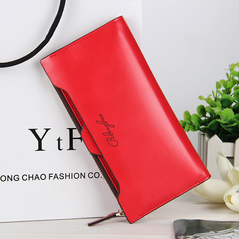 Purse Women Candies Color Brand Female Long Thin Wallet With Zipper Coin Bag And Removable ID Card Holder 1210-32<br><br>Aliexpress