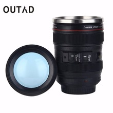 OUTAD 1 pc 2017 New Arrival 24-105mm Camera Lens Shape Cup Coffee Tea Travel Mug Stainless Steel Vacuum Flasks Camera Lens Cup(China (Mainland))
