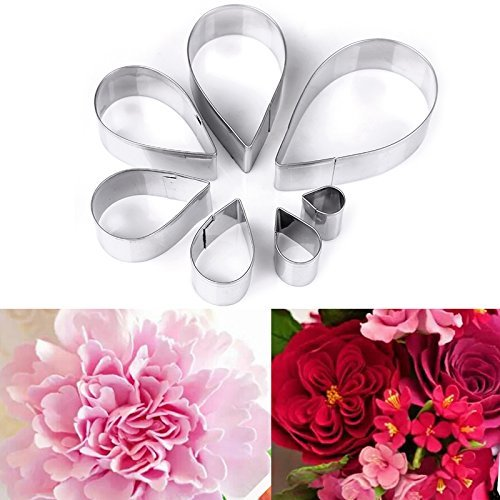 7pcs/set Stainless Steel Rose Petal Cake Cookie Cutter Mold Pastry Baking Mould Fondant Biscuit Cutter(China (Mainland))